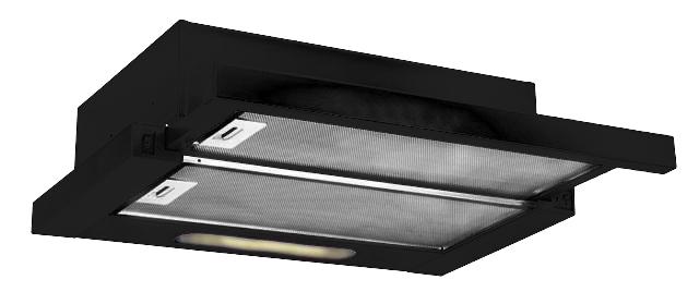 dunstabzugshaube flachschirmhaube kronos schwarz 60 cm 450 m h ebay. Black Bedroom Furniture Sets. Home Design Ideas