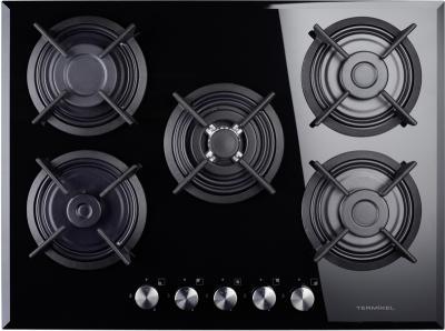 gas kochfeld autark kfg 7120 fs 5 flammig schwarz 70 cm gaskochfeld ebay. Black Bedroom Furniture Sets. Home Design Ideas