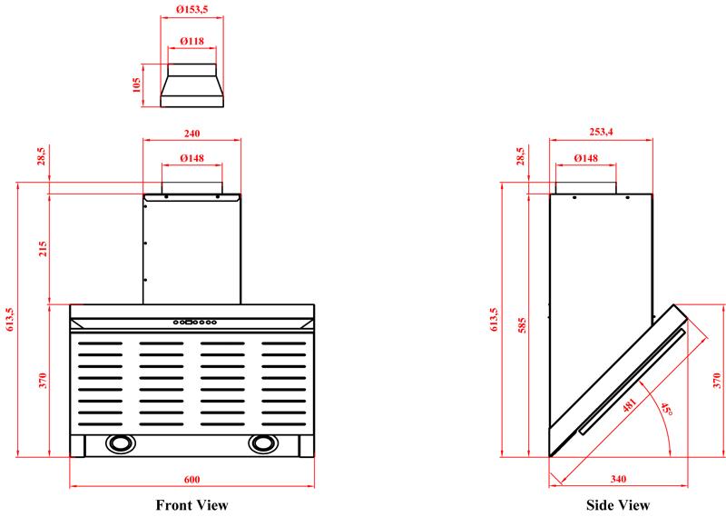 dunstabzugshaube kopffrei 60 cm edelstahl 800 cbm h spaltabsaugung abluft umluft ebay. Black Bedroom Furniture Sets. Home Design Ideas