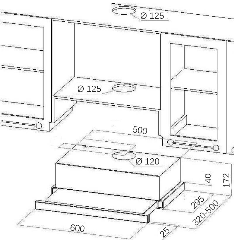 dunstabzugshaube flachschirmhaube kronos schwarz 60 cm 450 m h abluft umluft ebay. Black Bedroom Furniture Sets. Home Design Ideas
