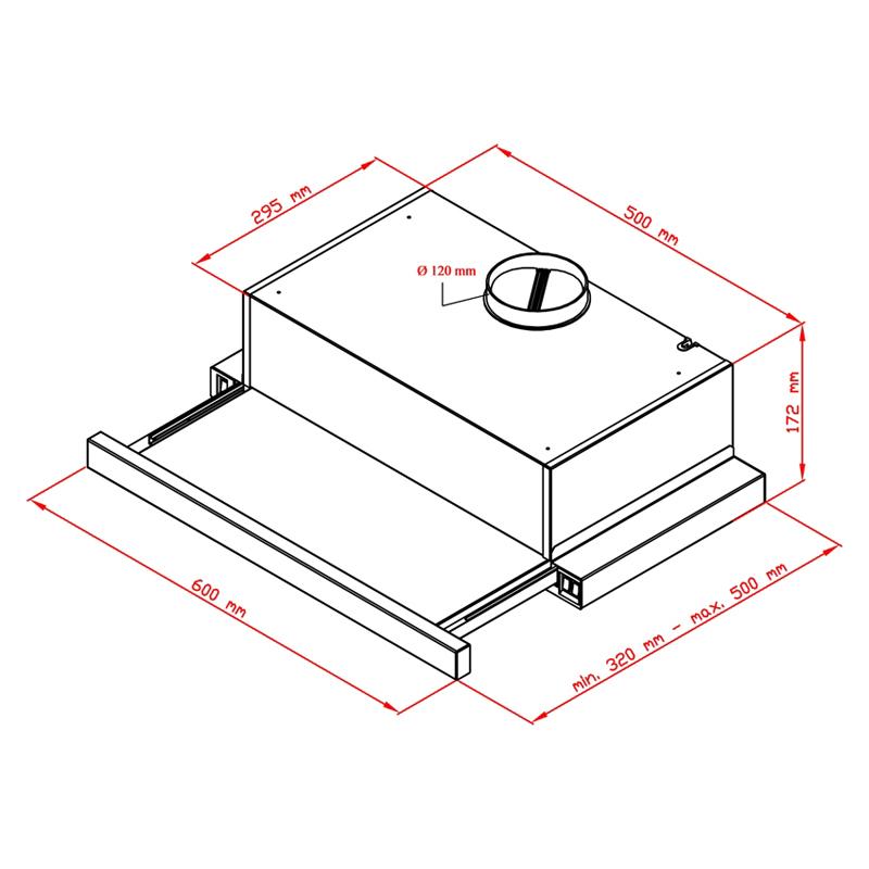 dunstabzugshaube flachschirmhaube wei 60 cm 450 cbm h. Black Bedroom Furniture Sets. Home Design Ideas