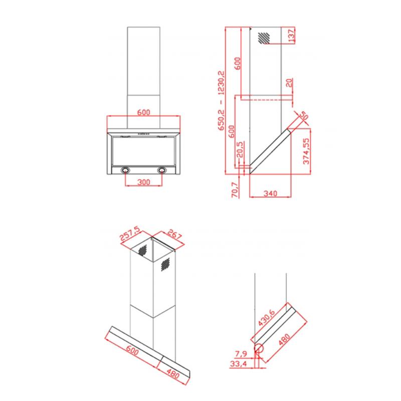 dunstabzugshaube kopffrei arktos extra leise 60 cm. Black Bedroom Furniture Sets. Home Design Ideas