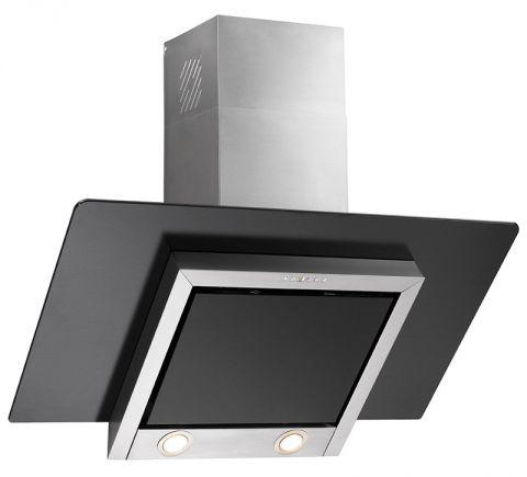 dunstabzugshaube kopffrei 80 cm glas schwarz abluft umluft randabsaugung 800 cbm ebay. Black Bedroom Furniture Sets. Home Design Ideas