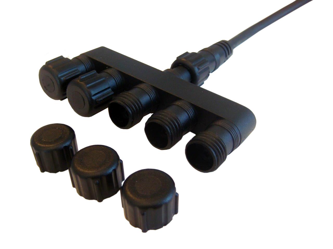 5 wege verteiler stromkabel f r pumpen und led. Black Bedroom Furniture Sets. Home Design Ideas