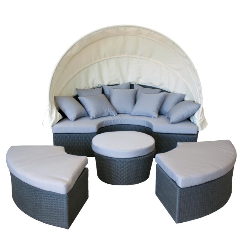 sonneninsel gartenlounge lounge polyrattan wetterfest. Black Bedroom Furniture Sets. Home Design Ideas