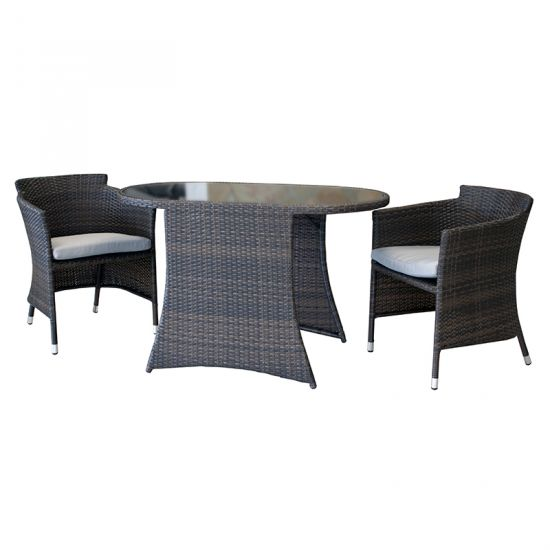balkon sitzgruppe sumatra braun 3 teilig polyrattan tisch. Black Bedroom Furniture Sets. Home Design Ideas