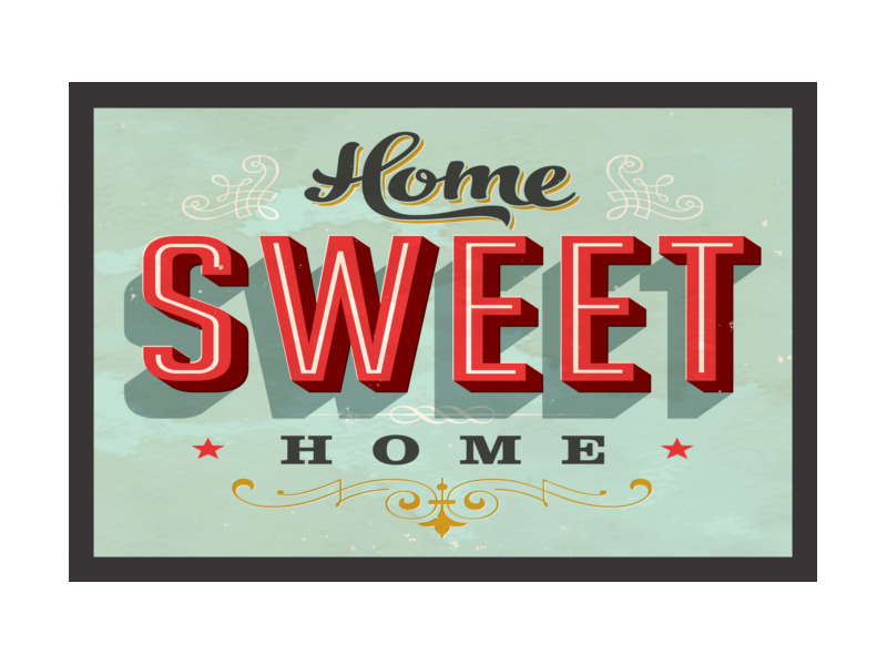 retro fu matte t rmatte home sweet home amerikanischer. Black Bedroom Furniture Sets. Home Design Ideas