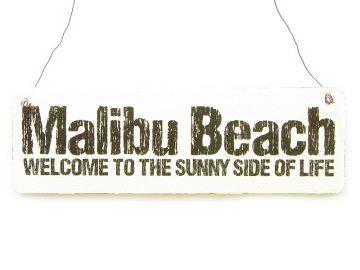 vintage shabby schild dekoschild t rschild malibu beach. Black Bedroom Furniture Sets. Home Design Ideas