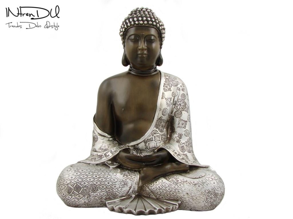 handbemalte buddha statue 29 x 24cm budda skulptur figur