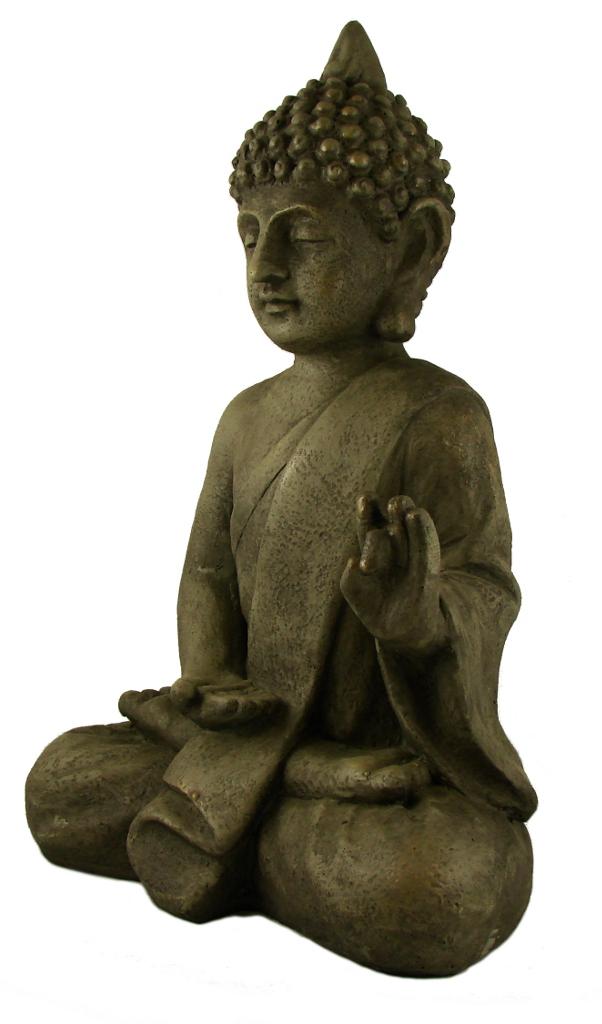 Stein Buddha Massiv Antik Steinfigur Skulptur Feng Shui