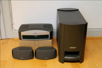 bose 3 2 1 digital home entertainment heimkino system graphit gebraucht sehr ebay. Black Bedroom Furniture Sets. Home Design Ideas
