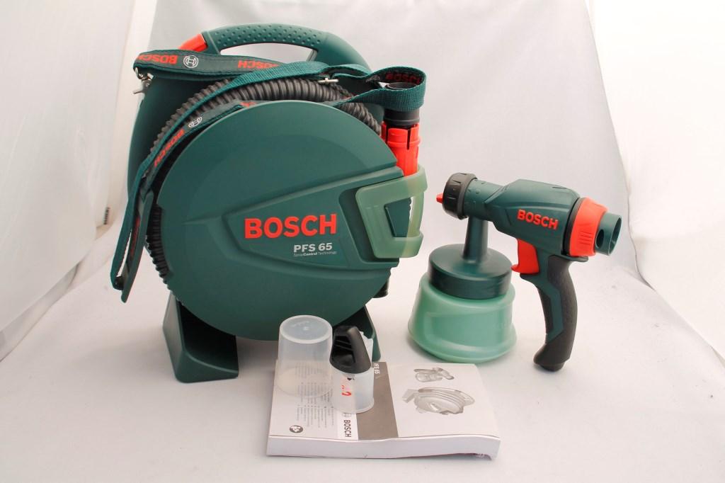bosch pfs 65 homeseries feinspr hsystem 600 ml beh lter 280 w 0 130 g min ebay. Black Bedroom Furniture Sets. Home Design Ideas