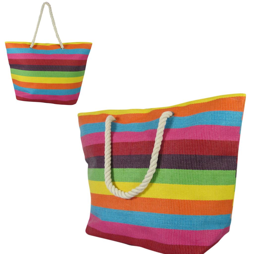 strandtasche gro beachbag xxl mit rei verschluss rainbow. Black Bedroom Furniture Sets. Home Design Ideas