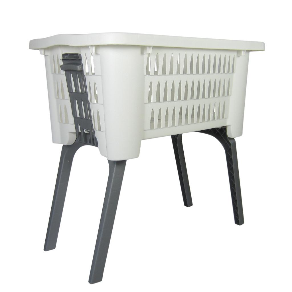 w schekorb 60l mit ausklappbaren beinen korb mit f en. Black Bedroom Furniture Sets. Home Design Ideas