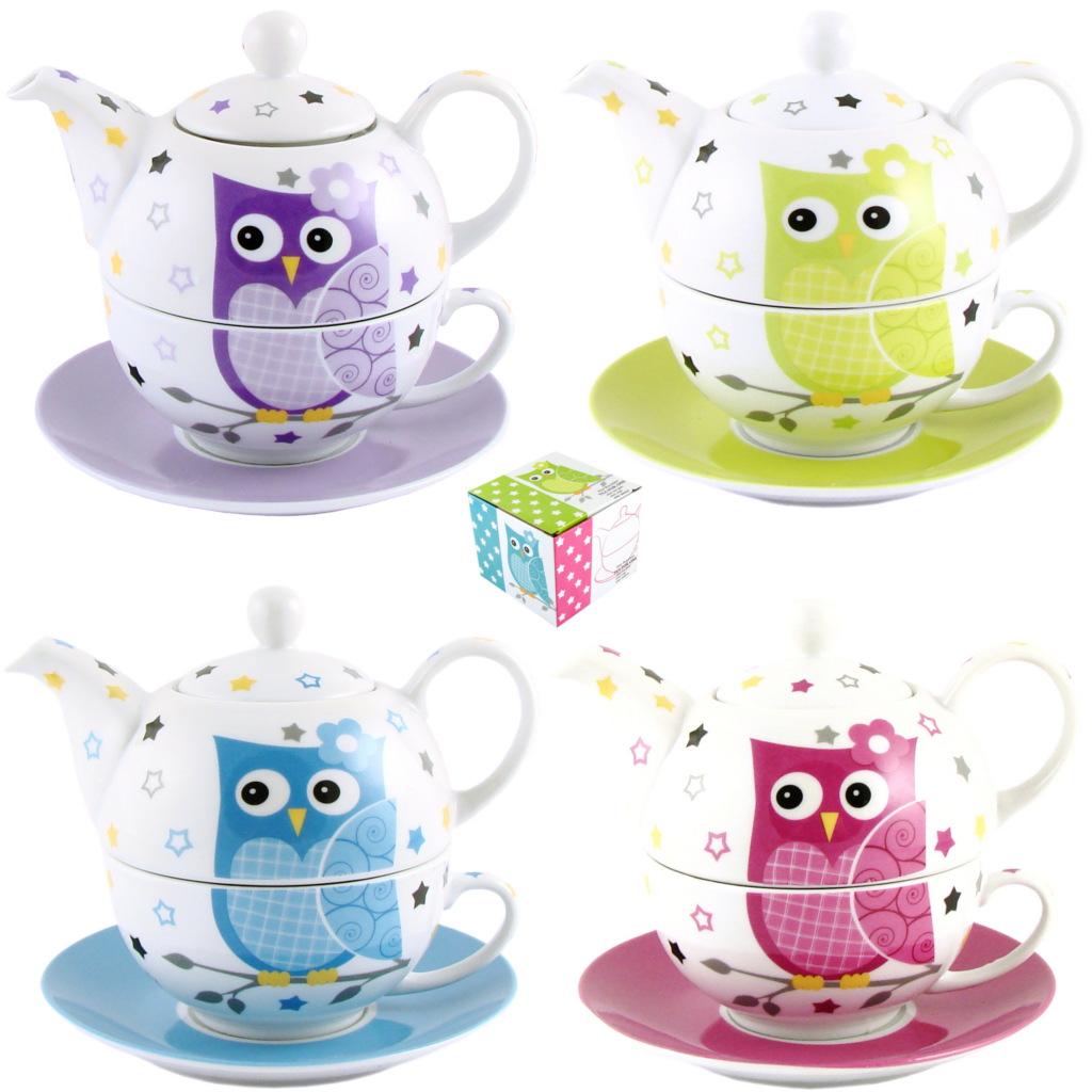 teekanne porzellan tea for one set mit tasse und untertasse in geschenkbox ebay. Black Bedroom Furniture Sets. Home Design Ideas