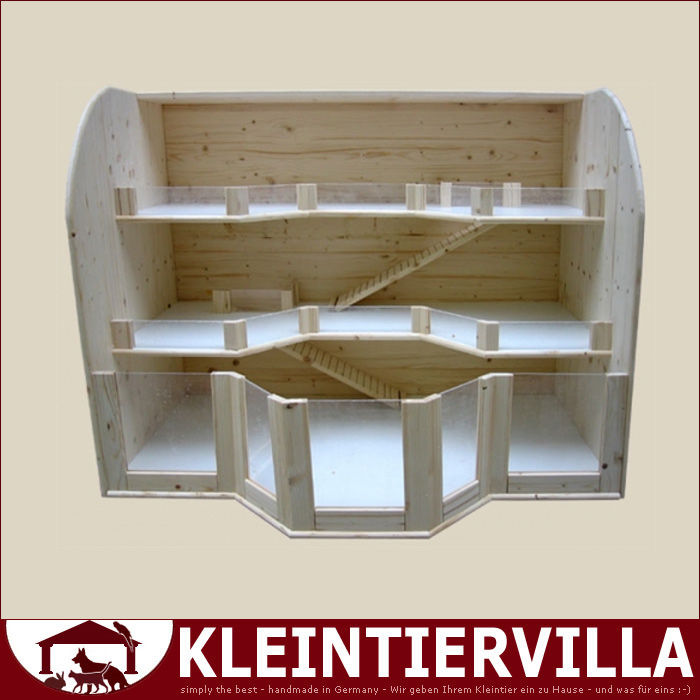 nathalie tower 1 60m f r meerschweinchen k fig holz neu. Black Bedroom Furniture Sets. Home Design Ideas