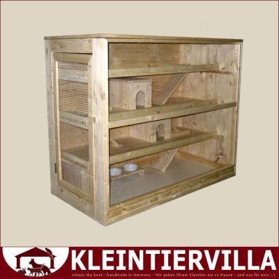 4 etagen meeri 2,20m² für meerschweinchen hamster käfig holz neu,