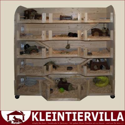 nathalie hochhaus megagross 4 55m meerschweinchen k fig holz neu gehege erker ebay. Black Bedroom Furniture Sets. Home Design Ideas