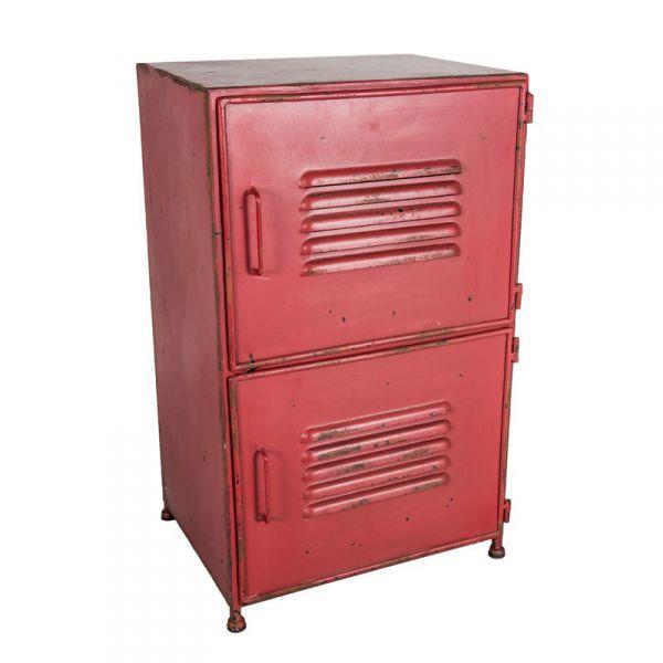 vintage industrielook metallschrank nachttisch rot 26 5x44cm ebay