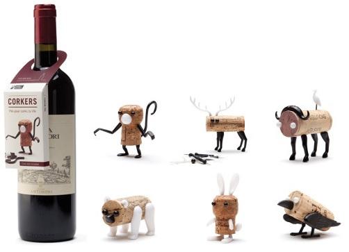 neu monkey business corkers wein korken deko mitbringsel korkentiere ebay. Black Bedroom Furniture Sets. Home Design Ideas