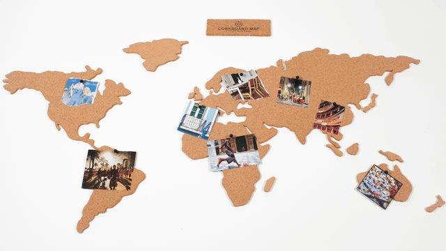 neu luckies corkboard map kork weltkarte 100 x 45 5 cm. Black Bedroom Furniture Sets. Home Design Ideas