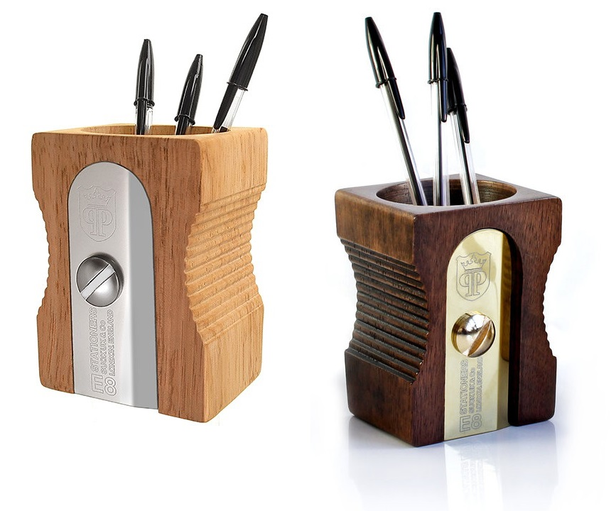 neu suck uk sharpener desk tidy stifte k cher stiftehalter in anspitzer form ebay. Black Bedroom Furniture Sets. Home Design Ideas