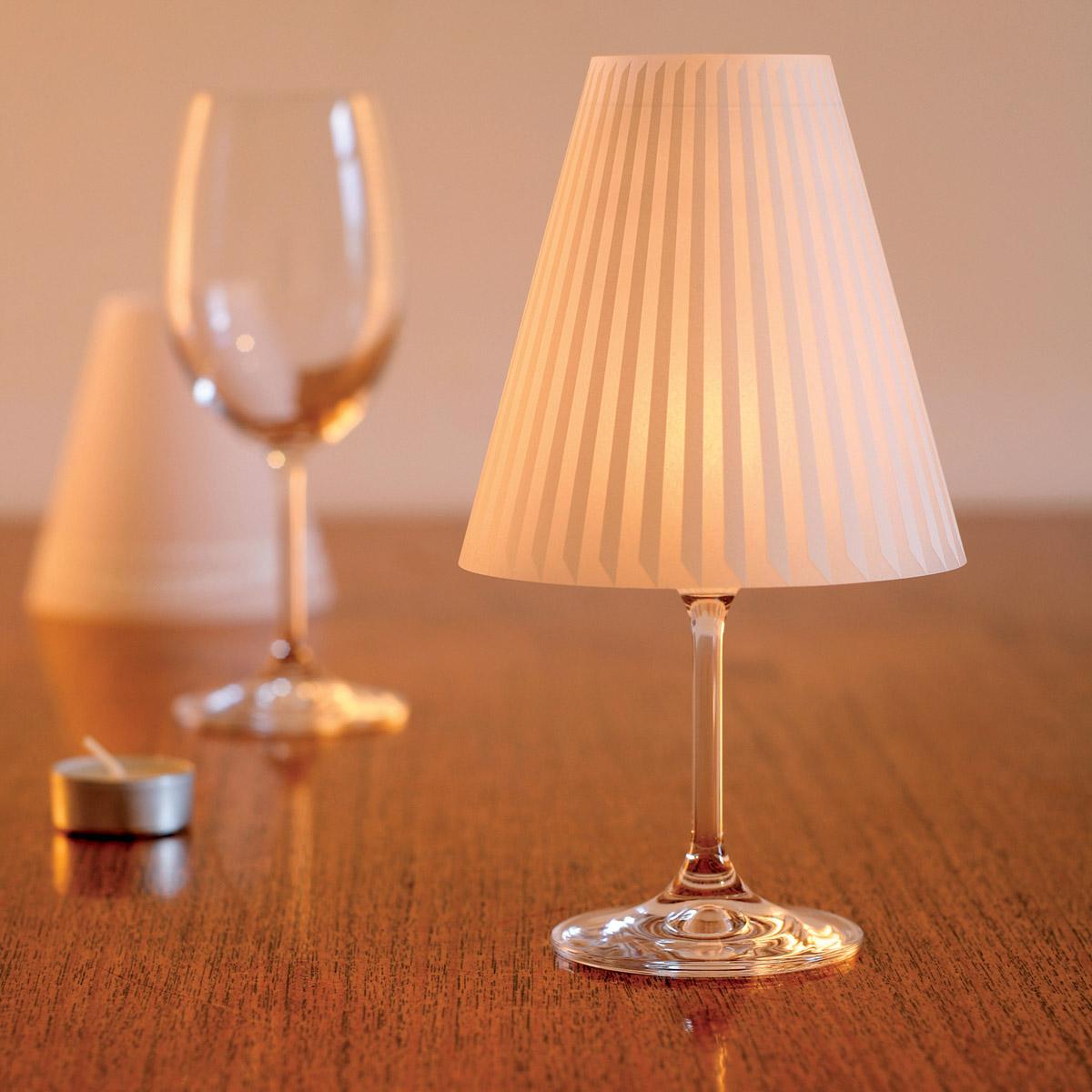 neu dekoop sch ne helene 3er set weinglas lampenschirme. Black Bedroom Furniture Sets. Home Design Ideas