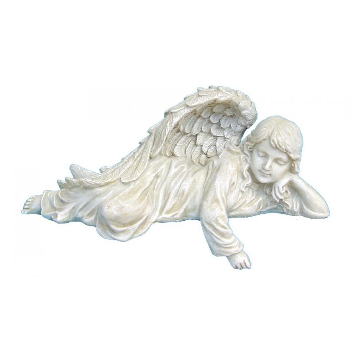 engelfigur liegend neu engel gartenengel grabengel ebay. Black Bedroom Furniture Sets. Home Design Ideas