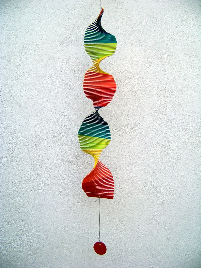 windspiel bunt 75 cm neu feng shui spirale twister gartendeko ebay. Black Bedroom Furniture Sets. Home Design Ideas