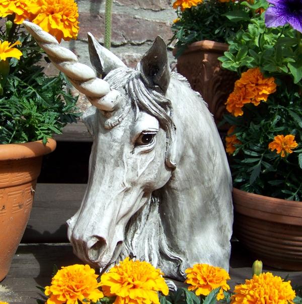 einhorn b ste gro neu einh rner unicorn fantasy gartenfigur. Black Bedroom Furniture Sets. Home Design Ideas