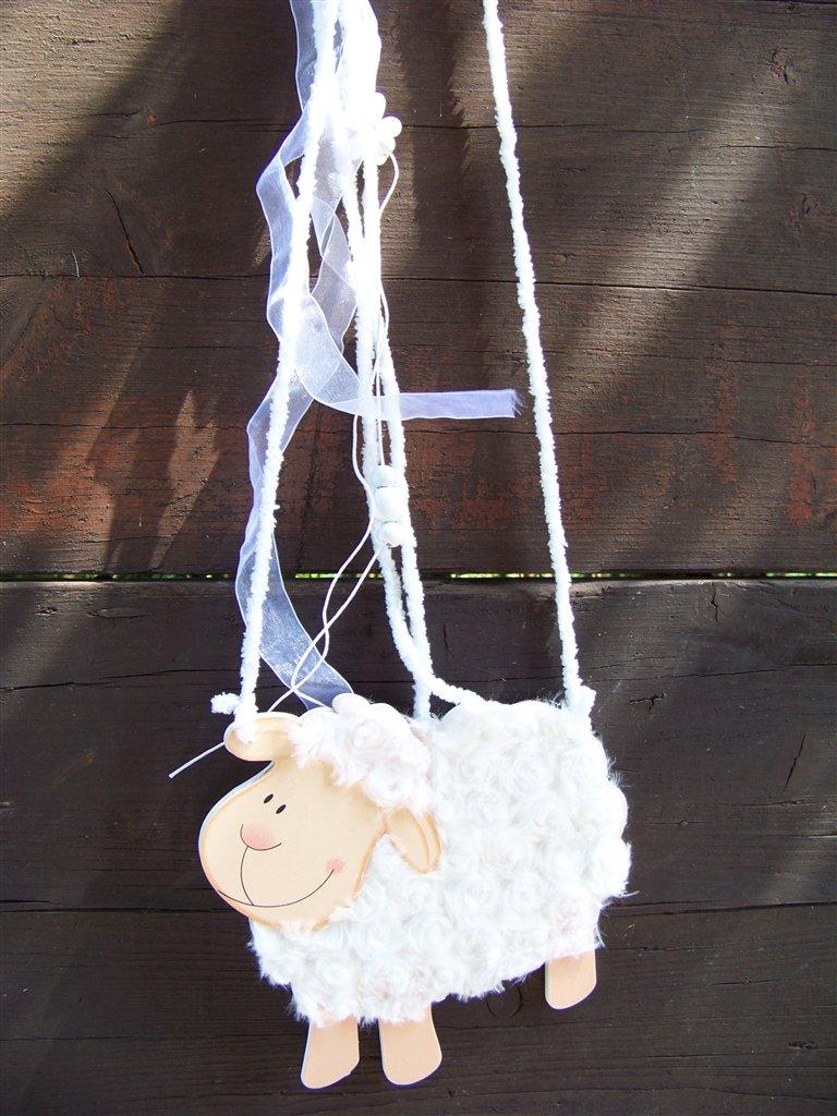 Deko Schaf Aus Holz Und Wolle ~   Schaf ist aus MDF Holz und so gearbeitet, dass es wie Wolle aussieht