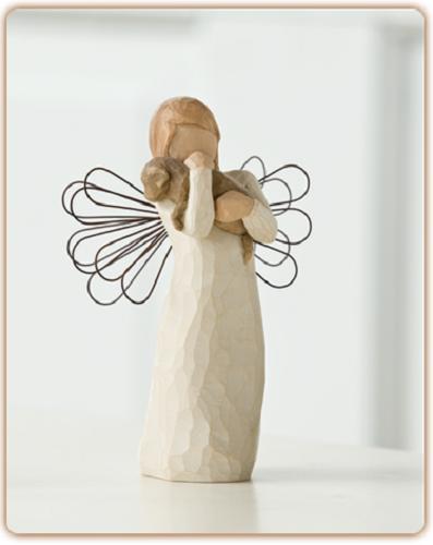 willow tree engel der freundschaft neu engelfigur mit hund susan lordi ebay. Black Bedroom Furniture Sets. Home Design Ideas