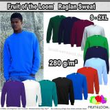 Fruit of the Loom, Raglan Sweat, Herren Sweat-Shirt