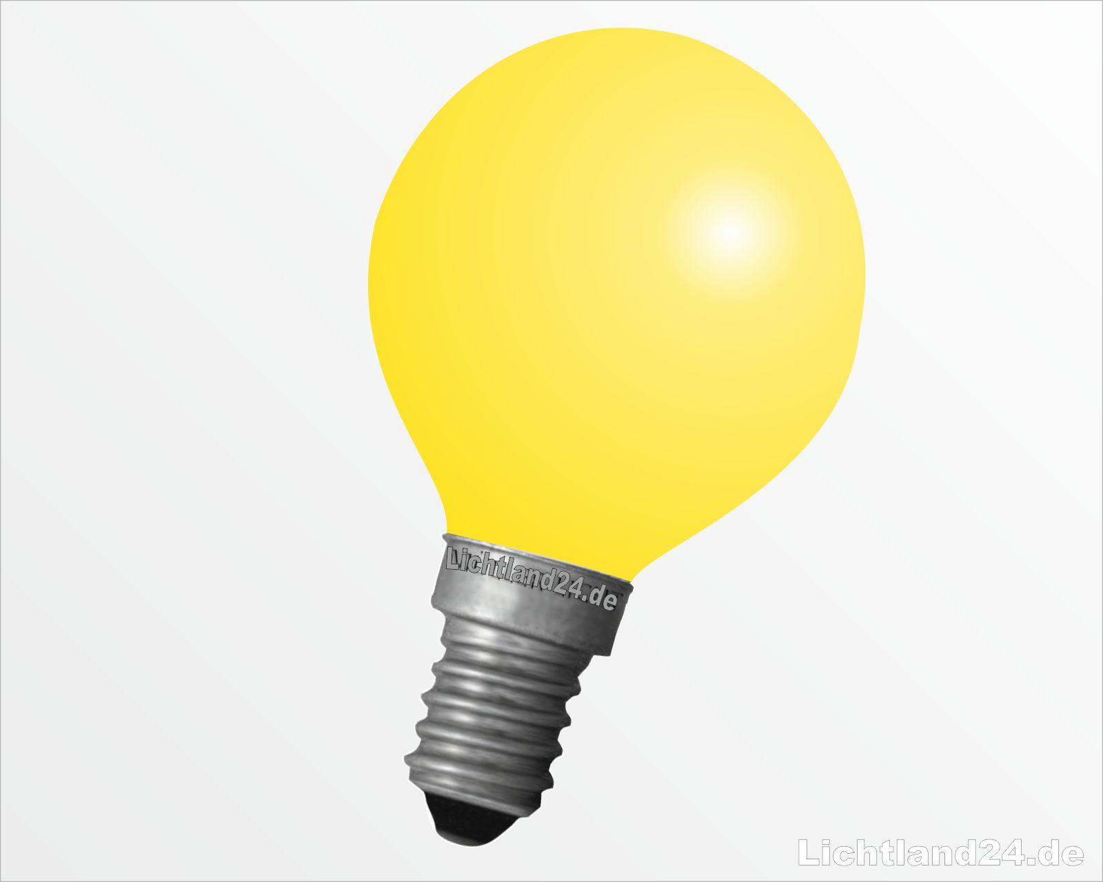 e14 tropfen gl hbirne 25 watt gelb farbige gl hbirnen bunte gl hlampen 25w ebay. Black Bedroom Furniture Sets. Home Design Ideas