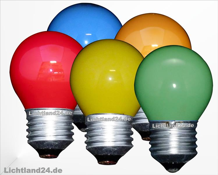 e27 5er mix farbige tropfen lampen 15 watt bunte gl hbirnen 15w ebay. Black Bedroom Furniture Sets. Home Design Ideas