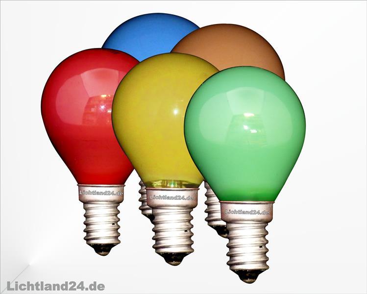 e14 25er mix farbige tropfen lampen 25 watt bunte gl hbirnen 25w ebay. Black Bedroom Furniture Sets. Home Design Ideas