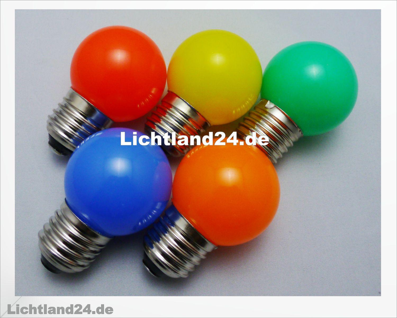 E27 5er MIX HQ 1,5 Watt SMD LED bunte Tropfen Lampe vergl. 15W ...