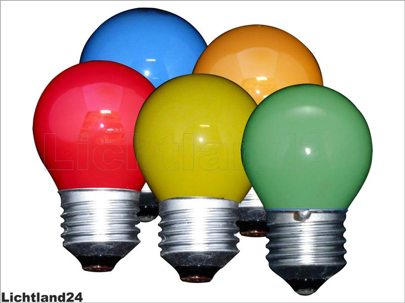 e27 5er mix farbige qual tropfen lampe 25 watt bunte gl hbirnen 25w ebay. Black Bedroom Furniture Sets. Home Design Ideas