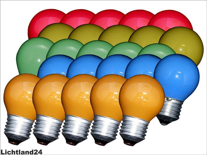 e27 25er mix qual farbige tropfen lampen 25 watt bunte gl hbirnen 25w ebay. Black Bedroom Furniture Sets. Home Design Ideas