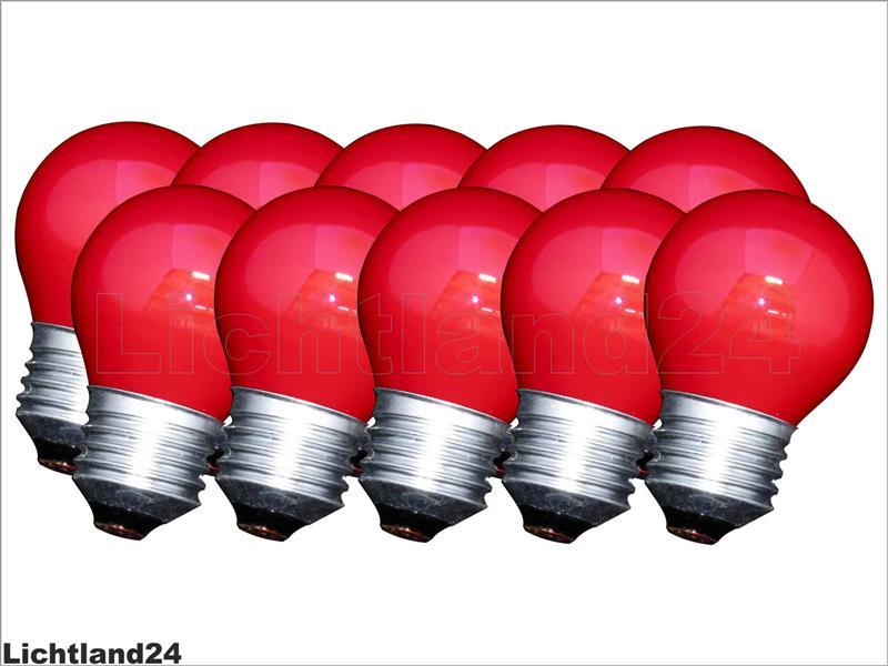 e27 10 x farbige qual tropfen lampe 25 watt rot bunte gl hbirnen 25w ebay. Black Bedroom Furniture Sets. Home Design Ideas
