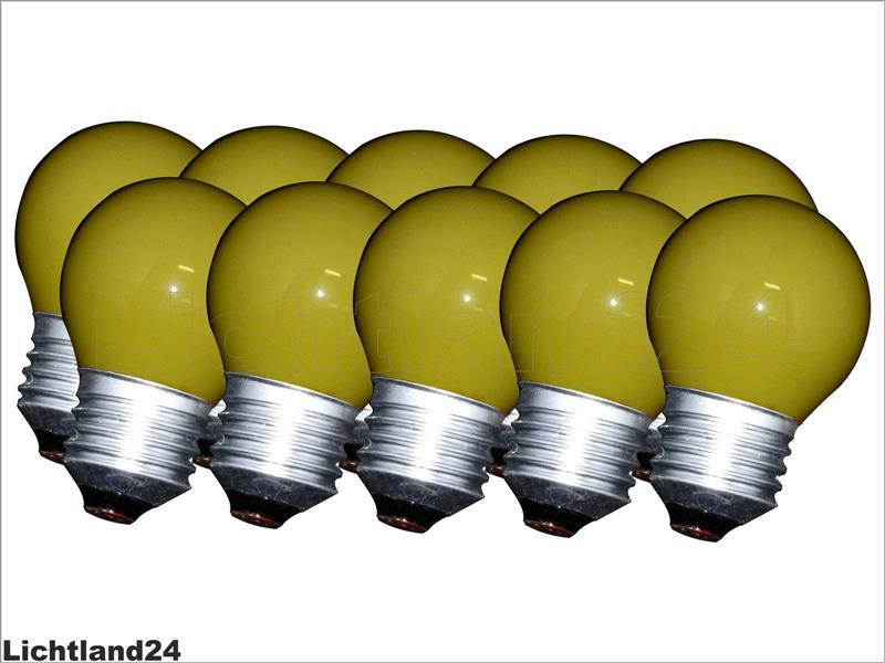 e27 10 x farbige qual tropfen lampe 25 watt gelb bunte gl hbirnen 25w ebay. Black Bedroom Furniture Sets. Home Design Ideas