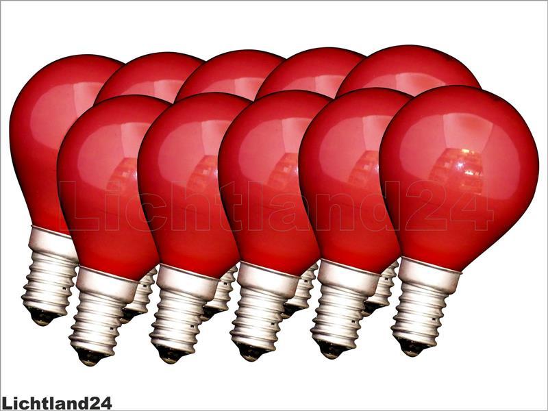 e14 10 x farbige qual tropfen lampe 25 watt rot bunte gl hbirnen 25w ebay. Black Bedroom Furniture Sets. Home Design Ideas
