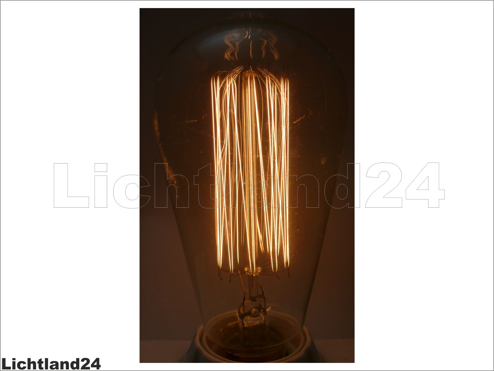 e27 retro edison deco gl hlampe 100 watt gl hbirne 100w rustika vintage ebay. Black Bedroom Furniture Sets. Home Design Ideas