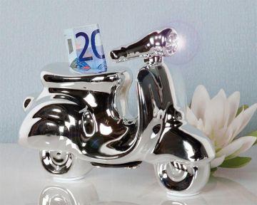 spardose roller moped mofa f hrerschein sparschwein ebay. Black Bedroom Furniture Sets. Home Design Ideas
