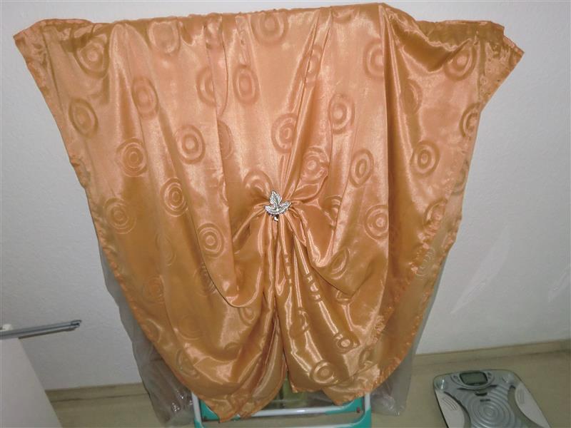 2stk gardinen kreis muster lang orange geh ngt oder gerafft inkl gardinen klip ebay. Black Bedroom Furniture Sets. Home Design Ideas