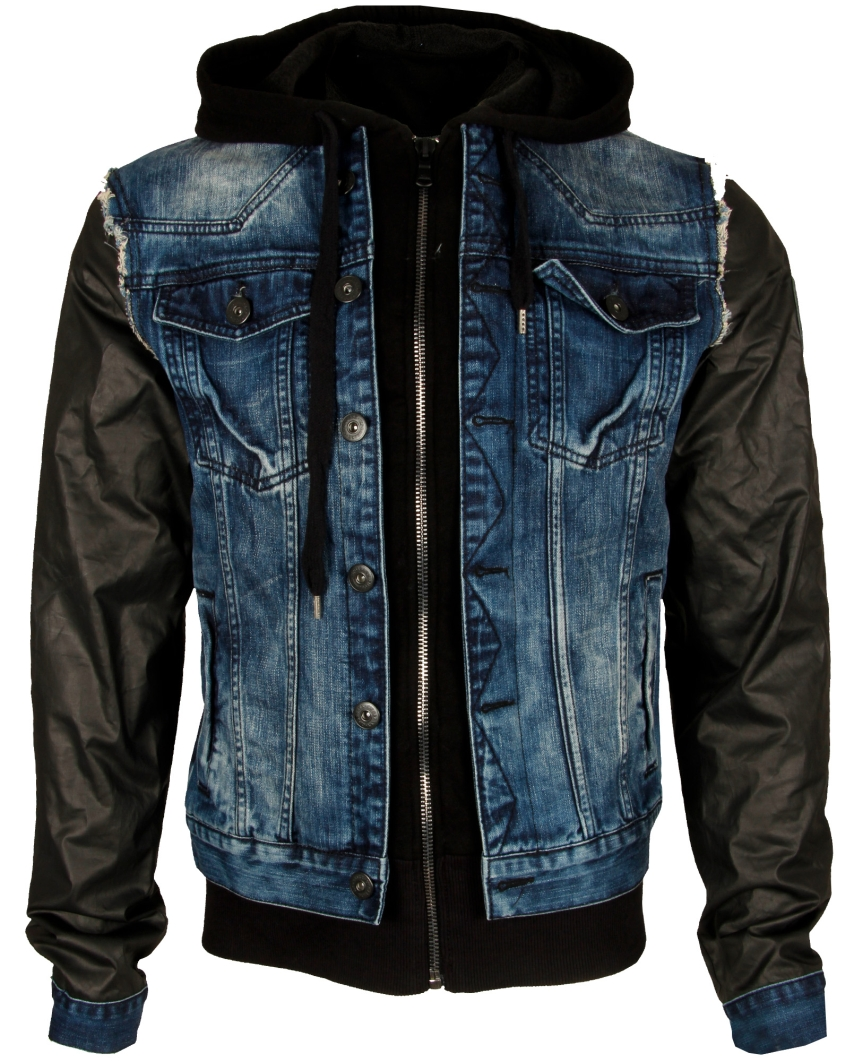 cipo baxx herren denimation jacke kunst lederjacke jacket schwarz jeans c 1290. Black Bedroom Furniture Sets. Home Design Ideas