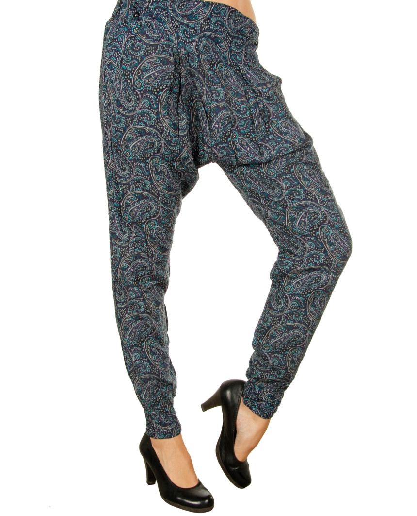 luftige smashed lemon damen stoffhose chino harem pant hose 5508 10 blau m ebay. Black Bedroom Furniture Sets. Home Design Ideas
