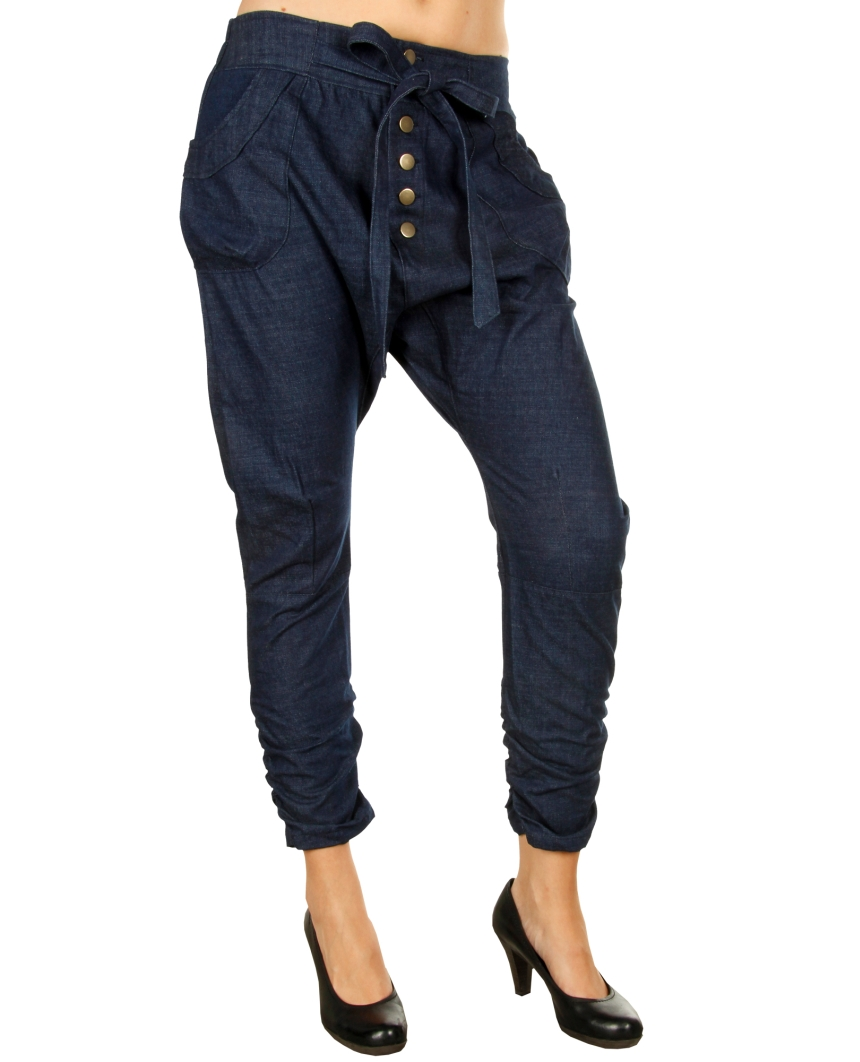 smashed lemon damen chino jeans haremshose pant hose denim harem 00055 blau m ebay. Black Bedroom Furniture Sets. Home Design Ideas