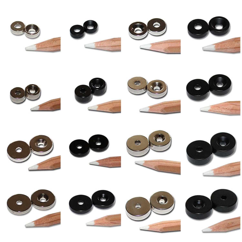 power neodym quader magnete zum schrauben mit zylinder block senkung loch n40 ebay. Black Bedroom Furniture Sets. Home Design Ideas