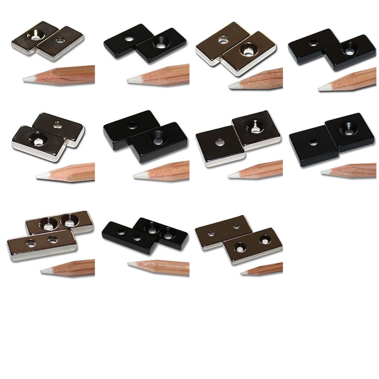 power neodym quader magnete zum schrauben mit zylinder. Black Bedroom Furniture Sets. Home Design Ideas